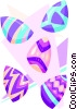 Easter eggs - abstract Vector Clipart picture