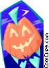 Pumpkin head - abstract Vector Clipart picture