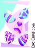Vector Clip Art image  of a Easter eggs 2 - abstract