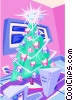 Vector Clipart picture  of a Christmas tree - abstract