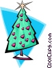 Vector Clipart picture  of a Christmas tree 2 - abstract