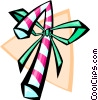 Vector Clip Art picture  of a candy cane - abstract