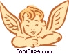 Vector Clip Art picture  of an angel boy