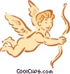 Vector Clip Art graphic  of a boy cupid