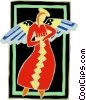 angel lady Vector Clipart illustration