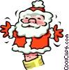 Vector Clip Art image  of a Santa puppet