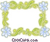 daisy border Vector Clipart illustration