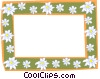 Vector Clipart graphic  of a daisy border two