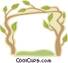 Vector Clip Art graphic  of a tree border