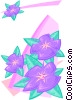 petunia border - abstract Vector Clipart image