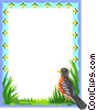 Vector Clip Art graphic  of a robin border