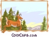 Vector Clipart graphic  of a deer background
