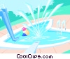 Pool background - abstract Vector Clipart picture