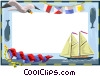 Vector Clipart graphic  of a nautical border