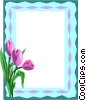 Tulip border Vector Clipart illustration