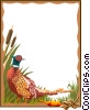 Vector Clip Art graphic  of a pheasant border