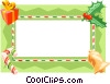 Vector Clipart illustration  of a Christmas gift border