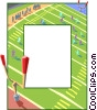 Vector Clipart graphic  of a Football border