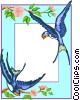 swallow border Vector Clipart illustration
