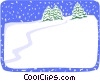 snow background Vector Clip Art picture