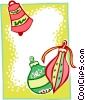Vector Clip Art picture  of a Christmas ornament border two