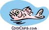 Vector Clipart graphic  of a surfacing fish