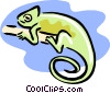 Vector Clip Art graphic  of a chameleon