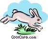 rabbit hopping away Vector Clipart image