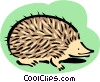hedgehog Vector Clipart graphic