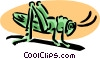 Vector Clip Art image  of a grasshopper