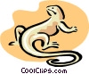 Vector Clipart image  of a lizard