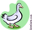 white goose Vector Clipart picture