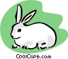 Vector Clipart graphic  of a pet rabbit