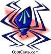 snazzy spider Vector Clipart picture