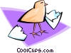 Vector Clipart graphic  of a hatched chick