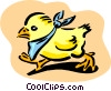 Vector Clipart image  of a chick in bib