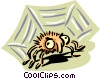 big eyed spider Vector Clipart illustration
