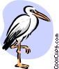 stork standing Vector Clipart graphic