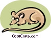 Vector Clip Art picture  of a mouse in glasses