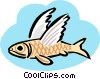 flying fish Vector Clip Art graphic