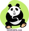 Vector Clip Art graphic  of a panda