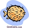 Vector Clipart picture  of a puffer fish