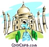 Taj Mahal Vector Clipart illustration