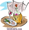 wine and food Vector Clip Art picture