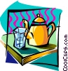 Vector Clipart image  of a teapot abstract