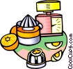 juice, eggs, timer Vector Clipart picture