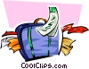 stuffed suitcase Vector Clipart picture