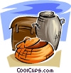 Vector Clipart illustration  of a baskets and trunk