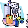 clothes in dryer Vector Clip Art picture