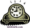 Vector Clip Art picture  of a clock - old-fashioned
